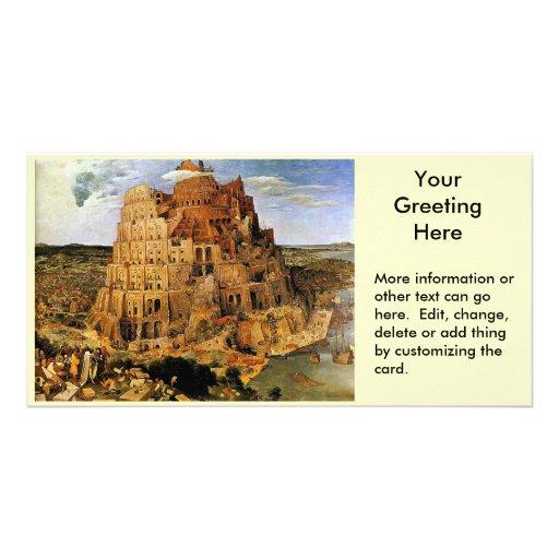 "Pieter Bruegel's ""The Tower of Babel"" (circa 1563) Customized Photo Card"