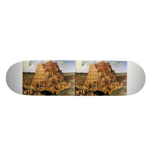 "Pieter Bruegel's ""The Tower of Babel"" (circa 1563) Skate Board Decks"