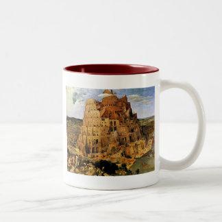 "Pieter Bruegel's ""The Tower of Babel"" (circa 1563) Two-Tone Coffee Mug"