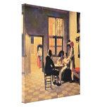 Pieter de Hooch - Card Players Stretched Canvas Print
