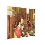 Pieter de Hooch - Card Players Gallery Wrap Canvas