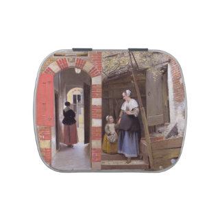 Pieter de Hooch- Courtyard de una casa en Delft Frascos De Caramelos