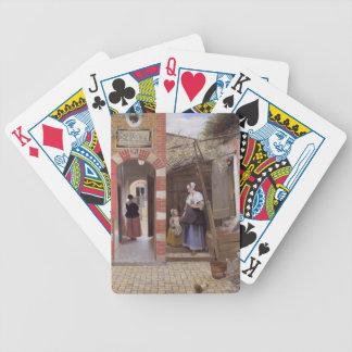 Pieter de Hooch- Courtyard of a house in Delft Bicycle Playing Cards
