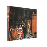 Pieter de Hooch - Family playing music Canvas Prints