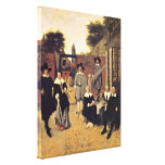 Pieter de Hooch - Hollandische family Stretched Canvas Prints