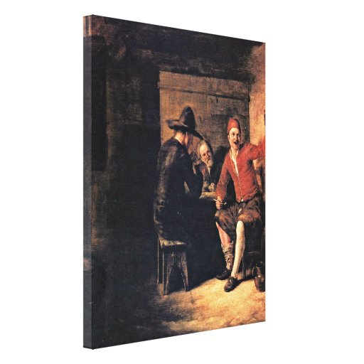 Pieter de Hooch - Merry Drinker Stretched Canvas Prints