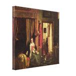 Pieter de Hooch - mother at the cradle Gallery Wrap Canvas