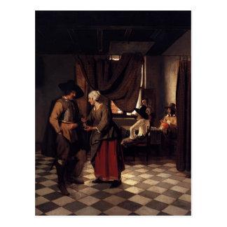 Pieter de Hooch- Paying the Hostess Post Cards