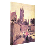 Pieter de Hooch - Woman and child on Bleichwiese Canvas Prints