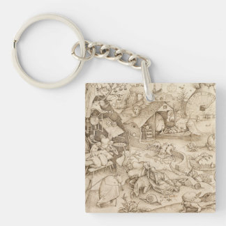 Pieter the Elder Art Single-Sided Square Acrylic Keychain