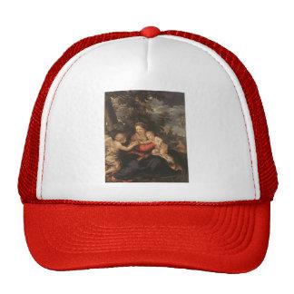 Pietro Cortona- Holy Family Resting on the Flight Hats