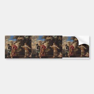 Pietro Cortona-Venus Appearing as a Huntress Bumper Stickers