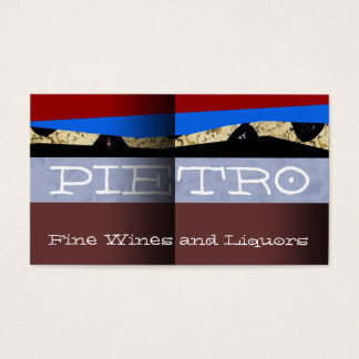 """Pietro Fine Wines"" Business Card"