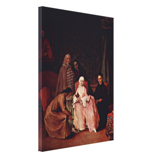 Pietro Longhi - A visit to a lady Canvas Print