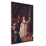 Pietro Longhi - Dance Time (The Dancing Master) Canvas Print
