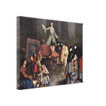 Pietro Longhi - Der tooth puller Gallery Wrapped Canvas