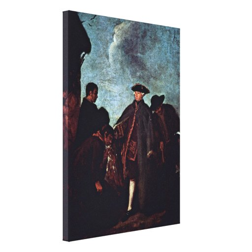Pietro Longhi - The arrival of the signor Gallery Wrapped Canvas