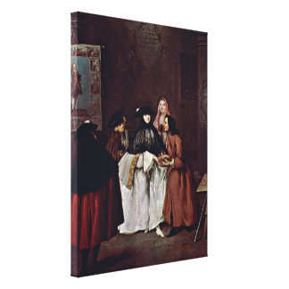 Pietro Longhi - The Fortune Teller Stretched Canvas Print