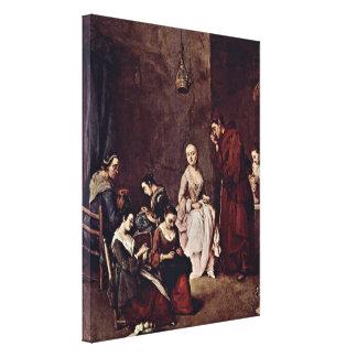 Pietro Longhi - The Temptation Stretched Canvas Prints