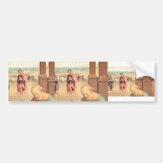 Pietro Perugino- Adoration of the Shepherds Bumper Sticker