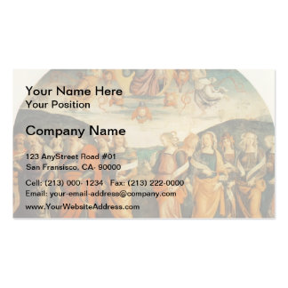 Pietro Perugino: Almighty with Prophets and Sybils Business Card Templates