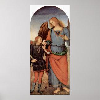 Pietro Perugino - Archangel and little Tobias Print