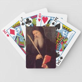 Pietro Perugino- St. Benedict Playing Cards