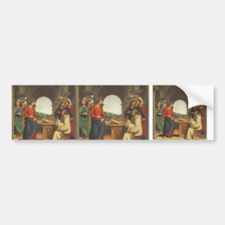 Pietro Perugino- The vision of St. Bernard Bumper Stickers