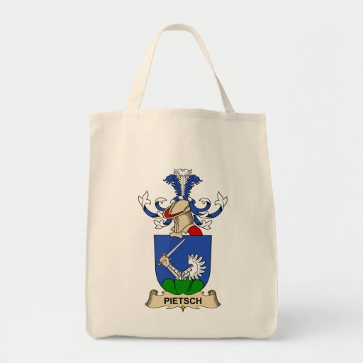 Pietsch Family Crest Grocery Tote Bag