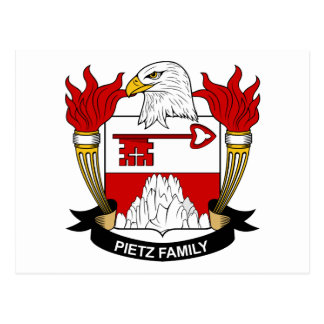 Pietz Coat of Arms / Family Crest Postcard