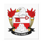 Pietz Family Crest Stretched Canvas Prints