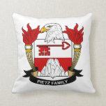 Pietz Family Crest Throw Pillows