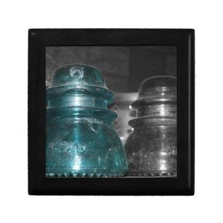 Pieza azul de la foto de los aisladores coloreada caja de regalo