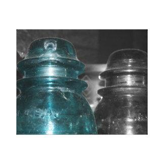 Pieza azul de la foto de los aisladores coloreada impresión en lona