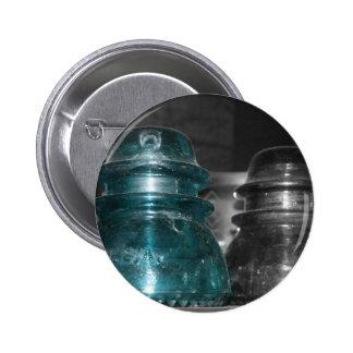 Pieza azul de la foto de los aisladores coloreada pin