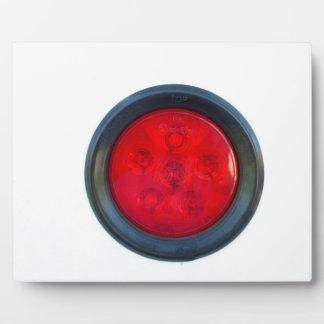 pieza de automóvil anaranjada redonda de la luz placas con foto