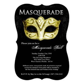 """Pieza de Halloween del traje de la máscara de la Invitación 5"""" X 7"""""""