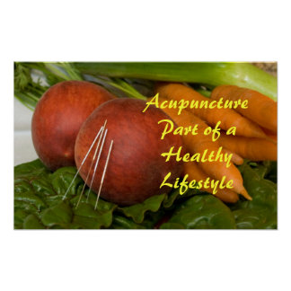 Pieza de la acupuntura de un poster sano de la for