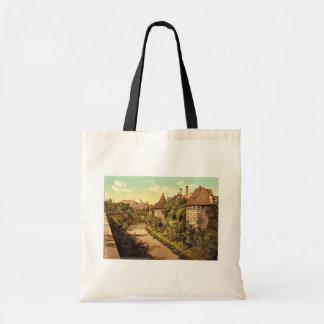 Pieza de la pared con el castillo, Nuremberg, Bavi Bolsas De Mano