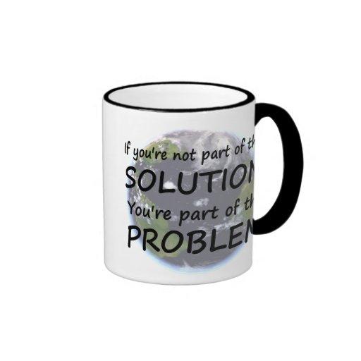 Pieza de la taza de la solución