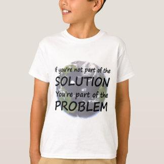Pieza de las camisetas de la solución