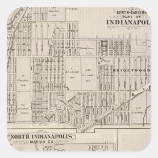 Pieza de Northerneastern de Indianapolis Pegatina Cuadrada