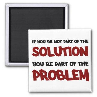 Pieza del imán de la solución