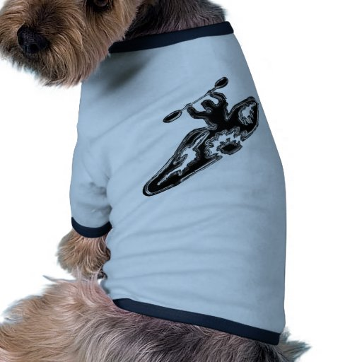 Pieza del kajak camiseta de mascota