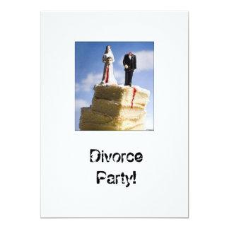 Pieza Invatations del divorcio Invitaciones Personalizada