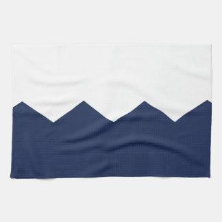 pieza poner crema del galón de la marina de guerra toallas de mano