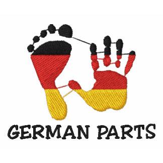 Piezas alemanas divertidas bordadas camiseta polo