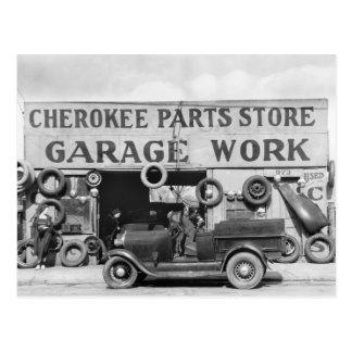 Piezas de automóvil cherokees: 1936 tarjetas postales