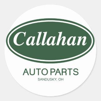 Piezas de automóvil de Callahan Pegatina Redonda