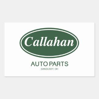 Piezas de automóvil de Callahan Pegatina Rectangular